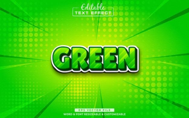 Efeito de texto editável 3d verde