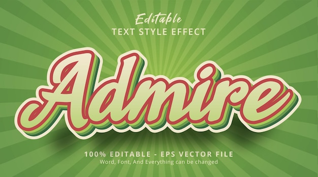 Efeito de texto editável, admirar texto no popular efeito de cor verde