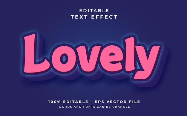 Efeito de texto editável adorável