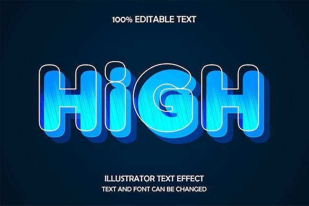 Efeito de texto editável, alto, estilo de luz padrão