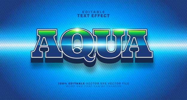 Efeito de texto editável aqua water bold