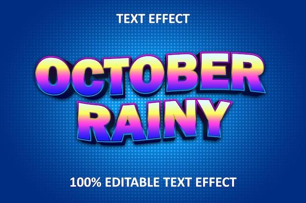 Efeito de texto editável arco-íris amarelo azul rosa