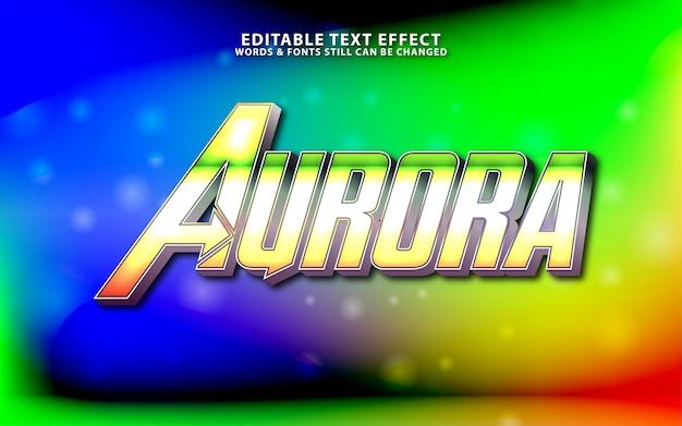 Efeito de texto editável aurora projeto de efeito de texto cinematográfico