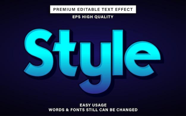 Efeito de texto editável azul estilo
