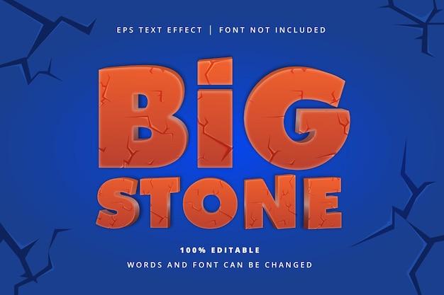 Efeito de texto editável big stone