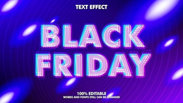 Efeito de texto editável black friday