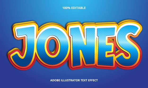 Efeito de texto editável - blue jones title style