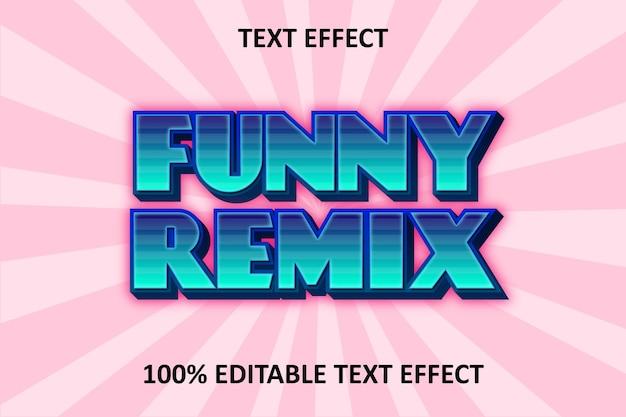 Efeito de texto editável blue purple retro