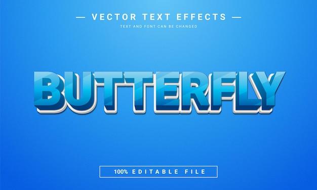Efeito de texto editável borboleta