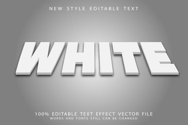 Efeito de texto editável branco em relevo estilo moderno