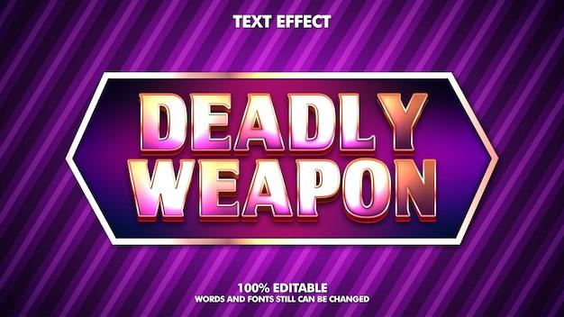 Efeito de texto editável brilhante logotipo do jogo esport