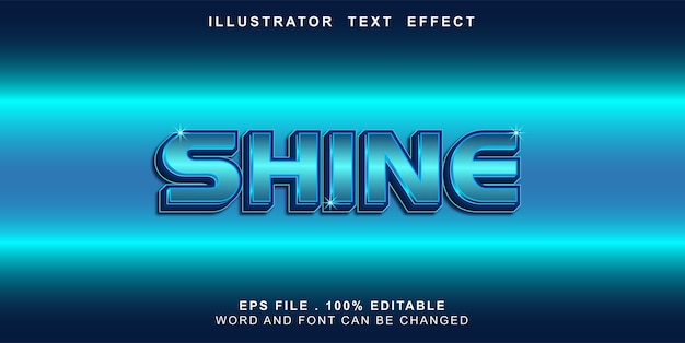 Efeito de texto editável brilhar
