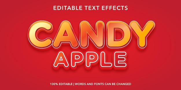 Efeito de texto editável candy apple