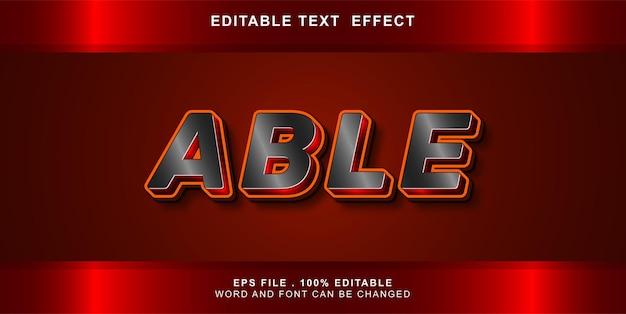 Efeito de texto editável capaz