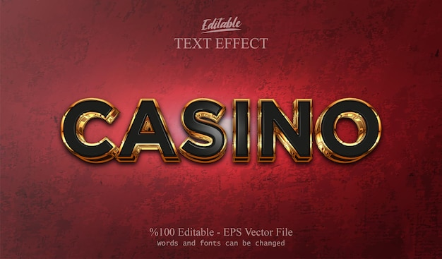 Efeito de texto editável casino