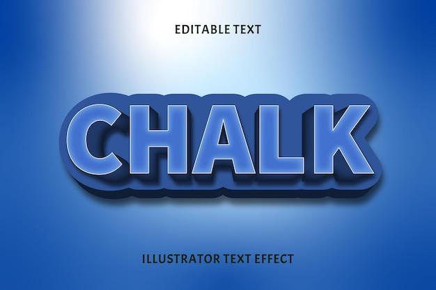 Efeito de texto editável chalk