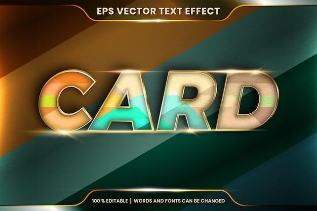 Efeito de texto editável com a palavra do cartão