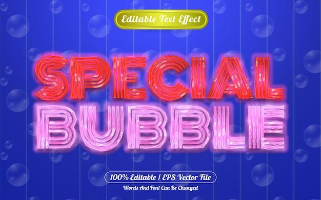 Efeito de texto editável com bolha especial com tema claro