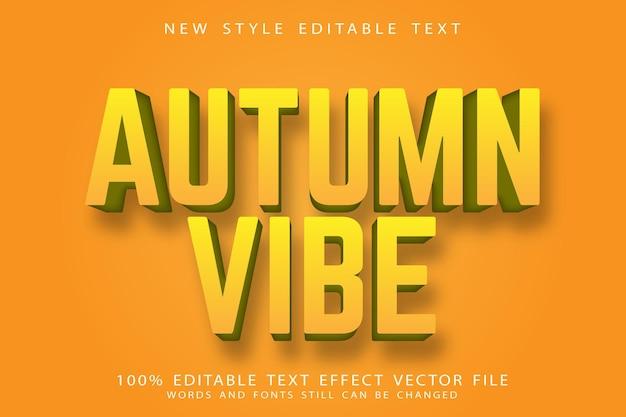 Efeito de texto editável com clima de outono em relevo estilo vintage