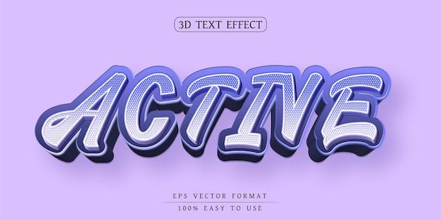 Efeito de texto editável com fonte elegante