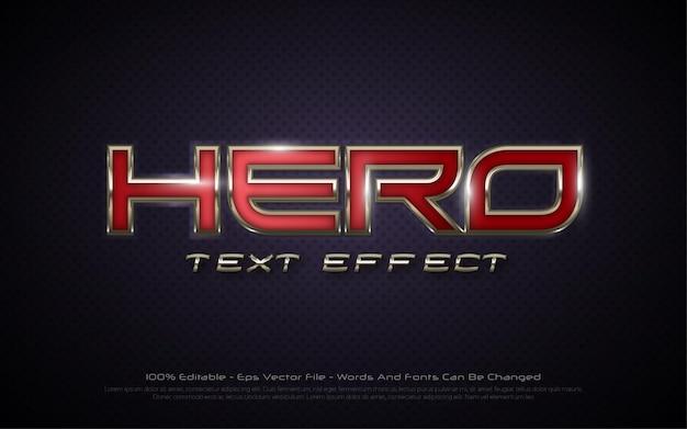 Efeito de texto editável com ilustrações de estilo hero 3d