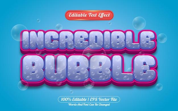 Efeito de texto editável com incrível estilo de modelo de bolha