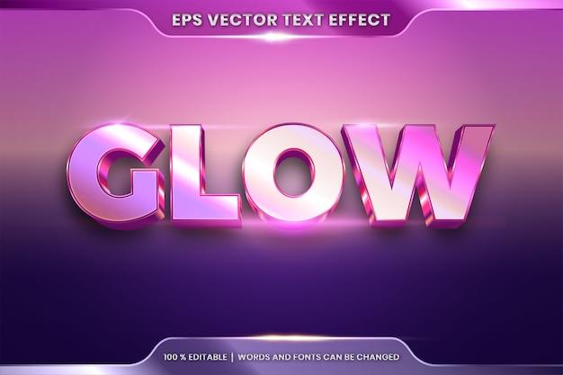 Efeito de texto editável com palavra glow