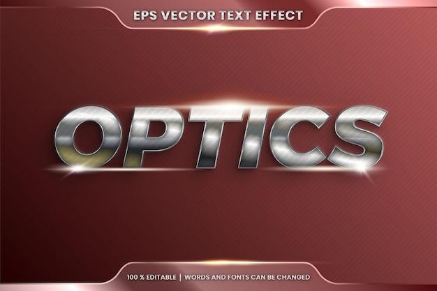 Efeito de texto editável com palavra óptica