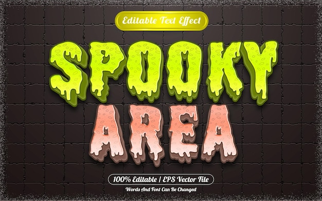 Efeito de texto editável com tema assustador de halloween