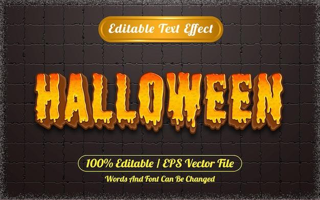 Efeito de texto editável com tema de halloween