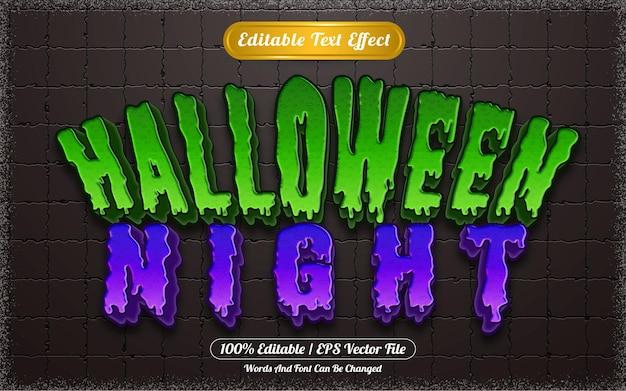 Efeito de texto editável com tema noite de halloween