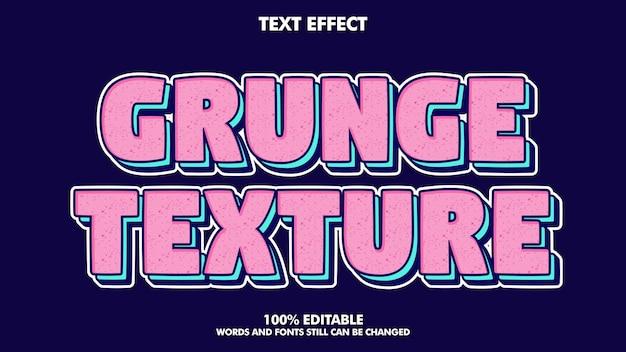 Efeito de texto editável com textura vintage grunge