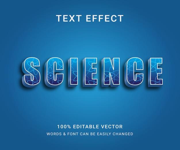 Efeito de texto editável completo da science