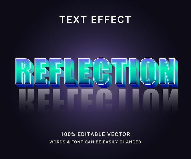 Efeito de texto editável completo de reflexão