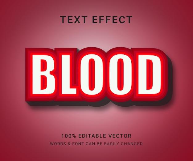 Efeito de texto editável completo de sangue