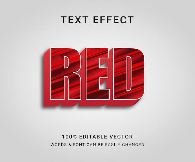 Efeito de texto editável completo em vermelho