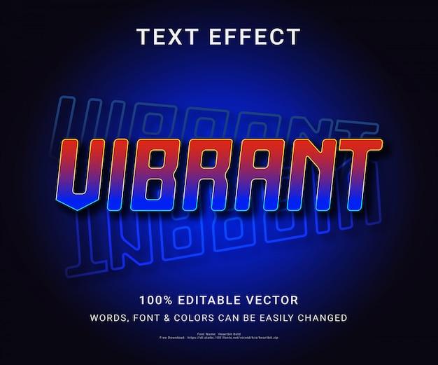 Efeito de texto editável completo vibrante