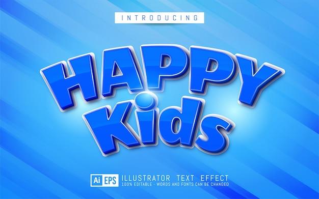 Efeito de texto editável - conceito de estilo de texto para crianças felizes