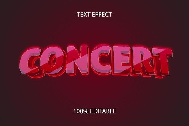 Efeito de texto editável concert style glass