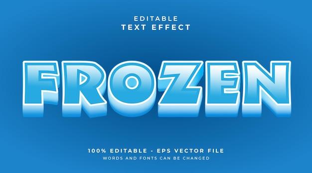 Efeito de texto editável congelado
