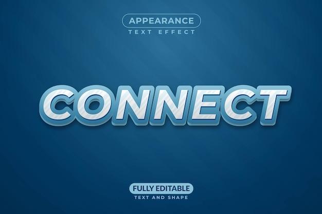 Efeito de texto editável connect effect style