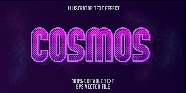 Efeito de texto editável cosmos