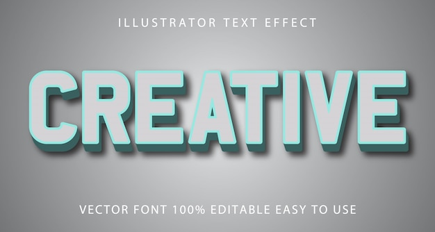 Efeito de texto editável criativo