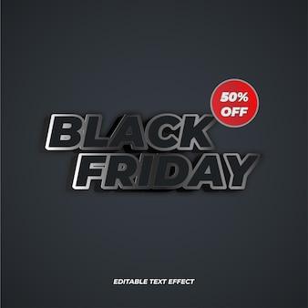 Efeito de texto editável da black friday