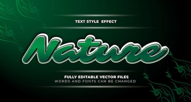 Efeito de texto editável da natureza