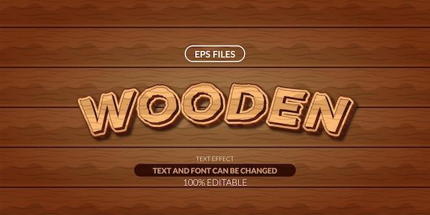 Efeito de texto editável da selva da textura de madeira.