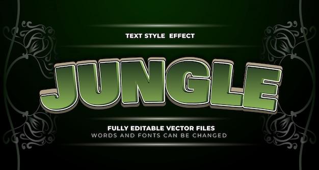 Efeito de texto editável da selva