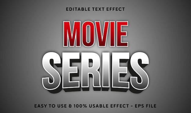Efeito de texto editável da série de filmes