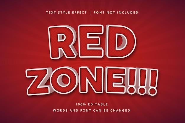 Efeito de texto editável da zona vermelha para o seu título