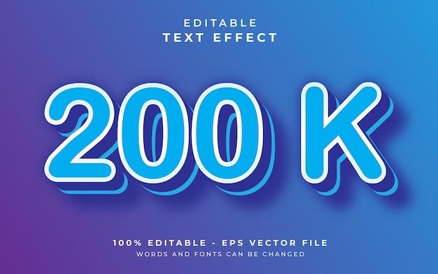 Efeito de texto editável de 200 k